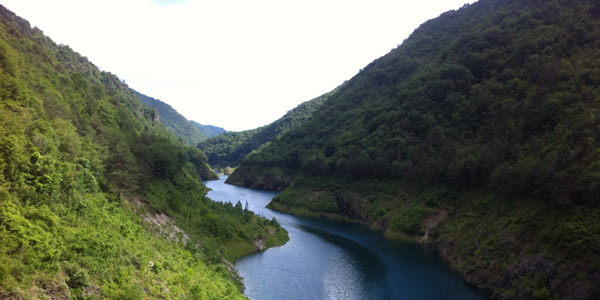 The beauty of the Valvestino dam